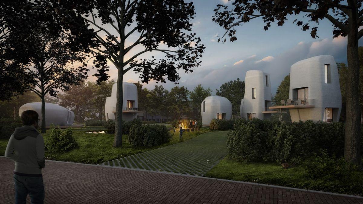En los Países Bajos se construyen las primeras casas habitables impresas en 3D
