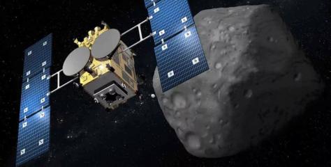 La nave espacial japonesa Hayabusa 2 se acerca a bombardear un asteroide