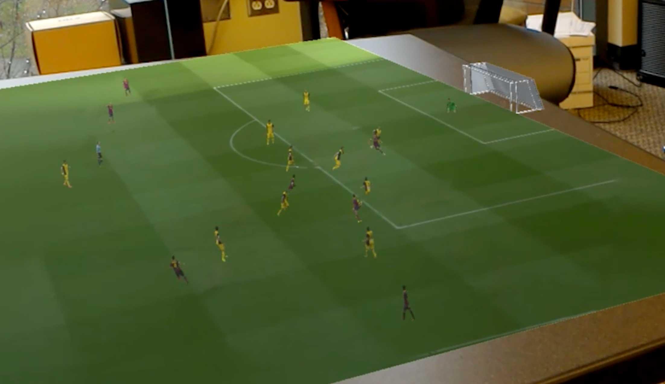 Pronto podrías ver los partidos de fútbol en 3D en tu propia mesa