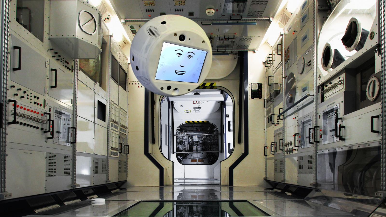 Un robot volador con Inteligencia Artificial se dirige a la Estación Espacial Internacional
