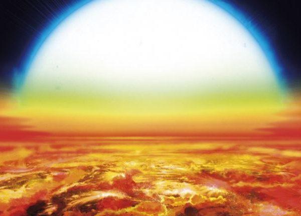Vapor de hierro y titanio encontrados en la atmósfera de un exoplaneta ultra caliente