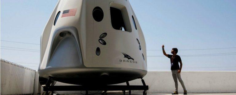 Space X dejó echar un vistazo a la cápsula Dragon, y presentó a los primeros astronautas