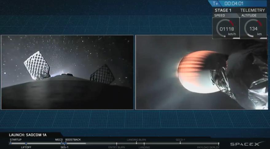 El Falcon 9 de SpaceX llevó un satélite argentino a órbita y aterrizó en su lugar de lanzamiento