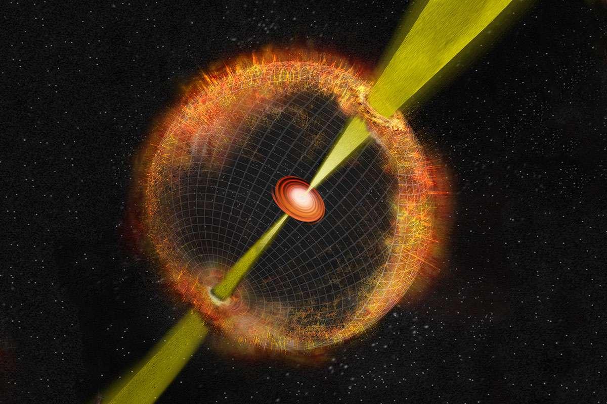 Astrónomos han detectado la onda de choque de una explosión invisible en el espacio
