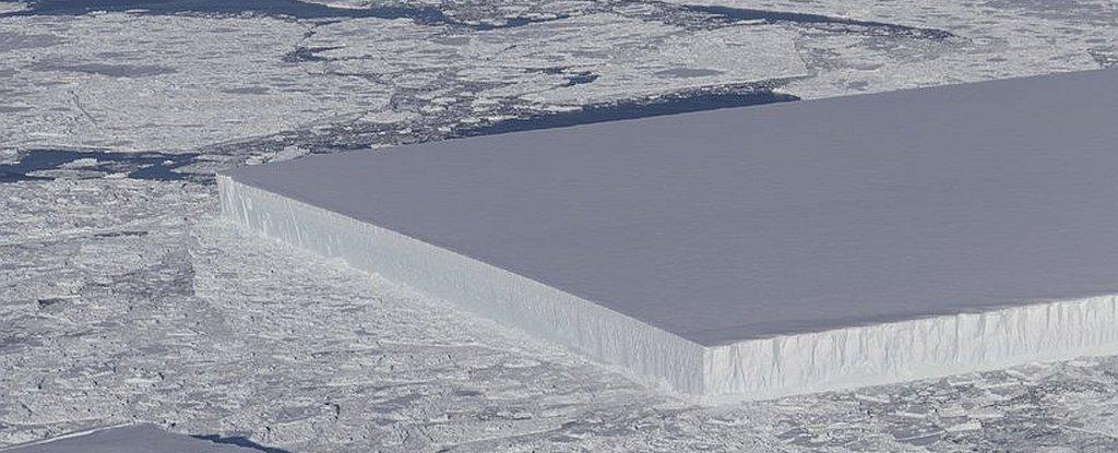 ¿Por qué este iceberg tiene esta forma que parece tan inusual?