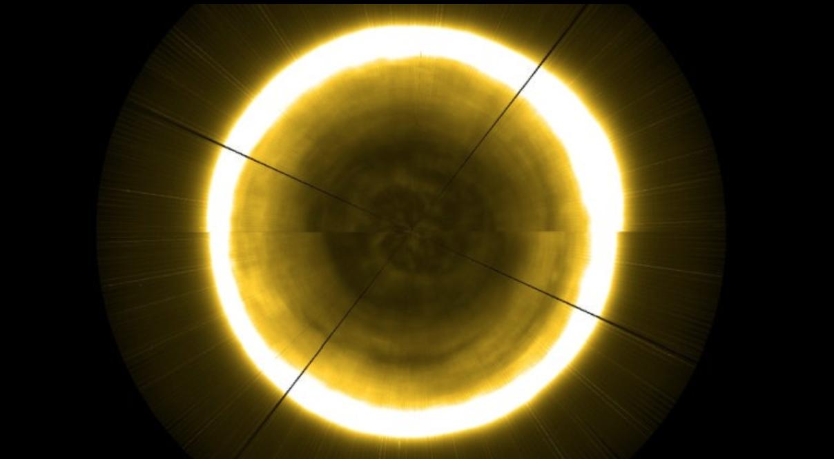 Esta es la primera imagen del polo norte del Sol
