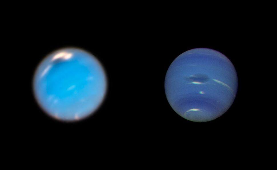 El Hubble ha capturado imágenes increíbles de una tormenta gigante que se está formando en Neptuno