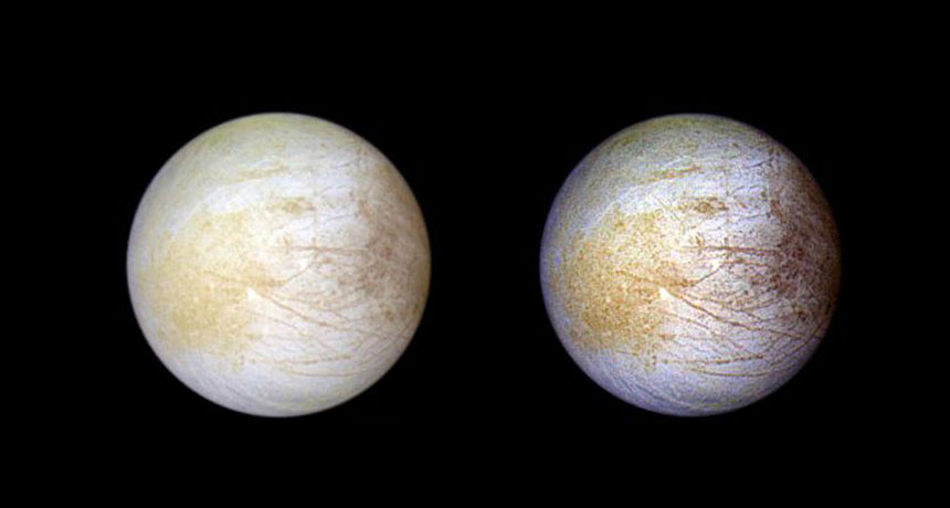 El océano en la luna Europa de Júpiter podría contener sal de mesa
