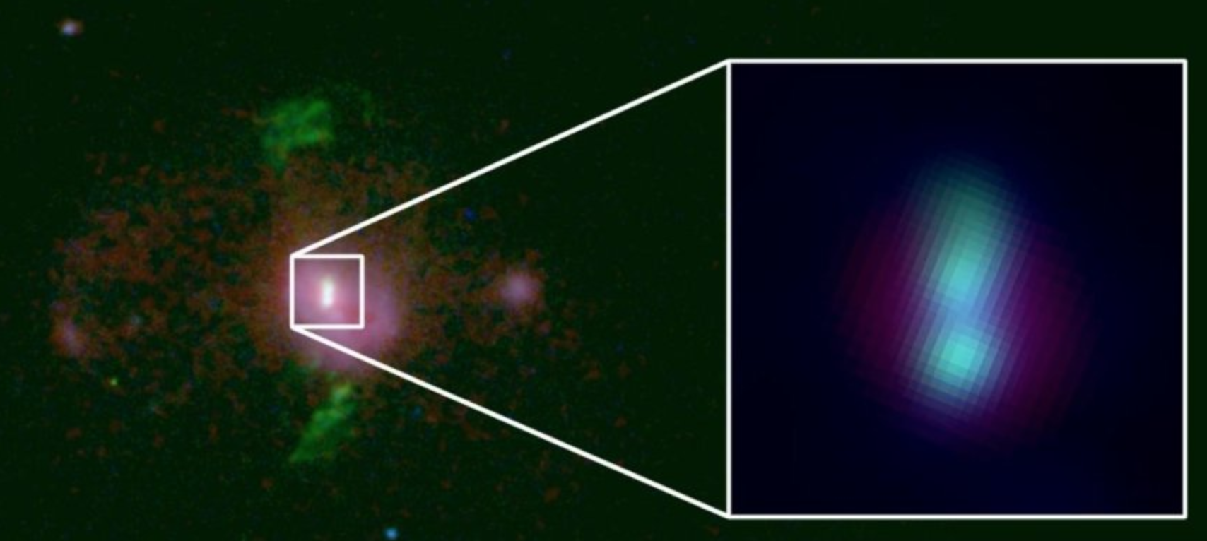 Astrónomos han detectado 2 agujeros negros supermasivos en curso de colisión