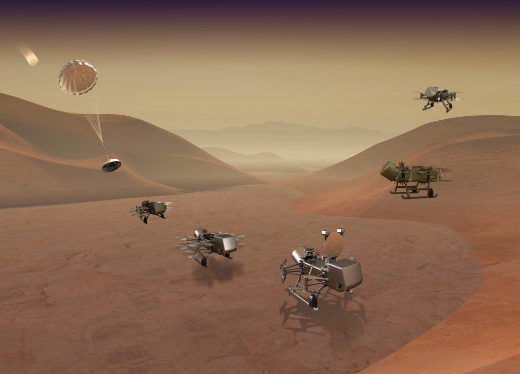 La NASA anuncia misión a Titán la cual utilizará un helicóptero explorador