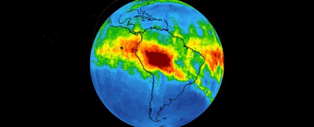 Imágenes de la NASA muestran cuánto monóxido de carbono está saliendo del incendio del Amazonas