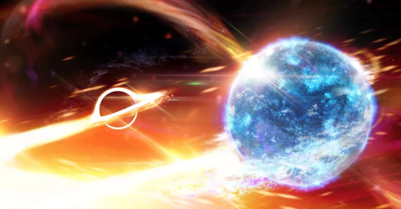 Informes indican que podríamos haber detectado un agujero negro engullendo una estrella de neutrones