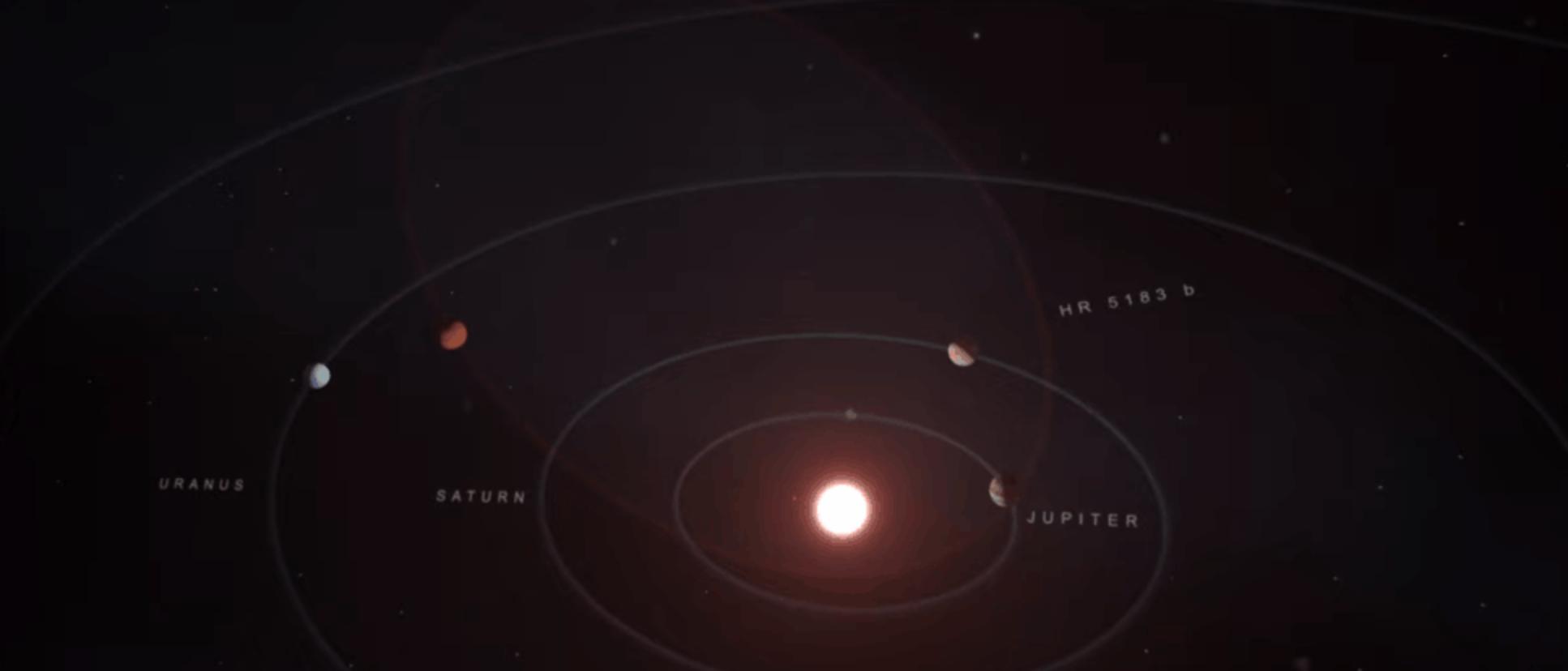 Astrónomos detectan un planeta gigantesco con la órbita más extrema que jamás hayamos visto
