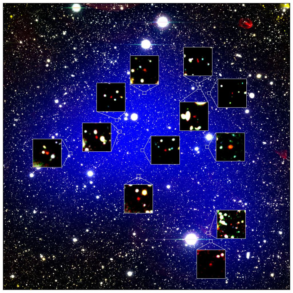 Enormes estructuras cósmicas ya existían cuando el universo era un bebé