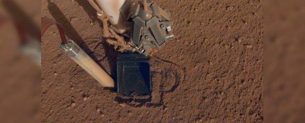 La sonda de auto martilleo de la misión Insight de la NASA parece no poder cavar en el suelo