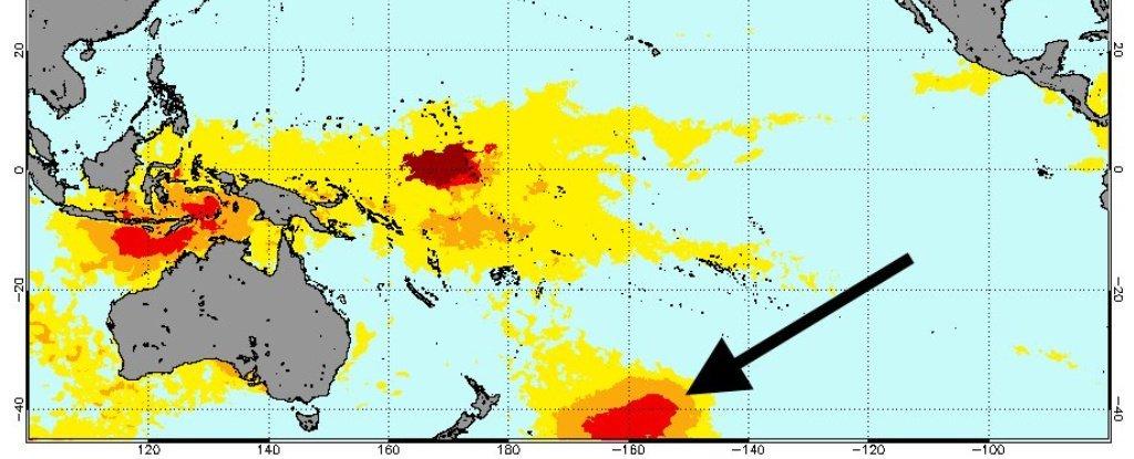 Una gran masa de agua caliente cerca a Nueva Zelanda desconcierta a los científicos