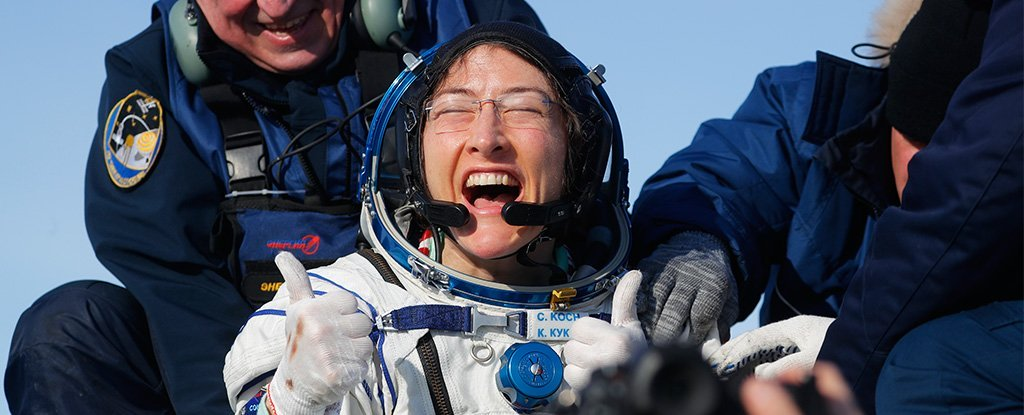 Astronauta de la NASA Christina Koch rompe oficialmente un nuevo récord de vuelo espacial