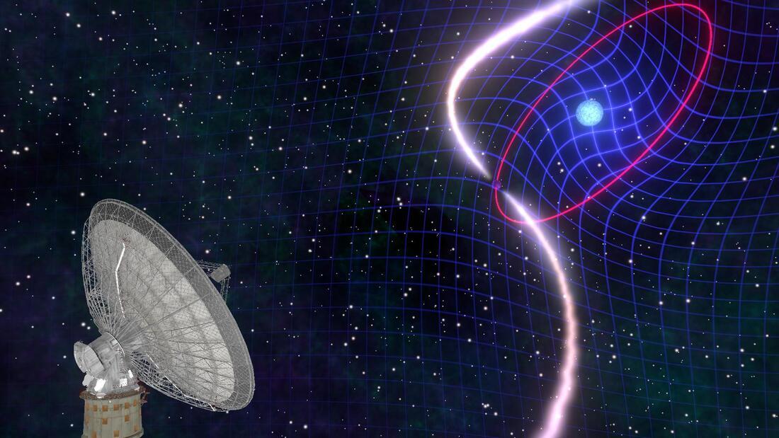 Astrónomos captan una estrella que está arrastrando el espacio-tiempo con ella