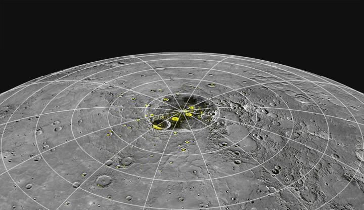 El hielo de Mercurio podría deberse a su cercanía al Sol