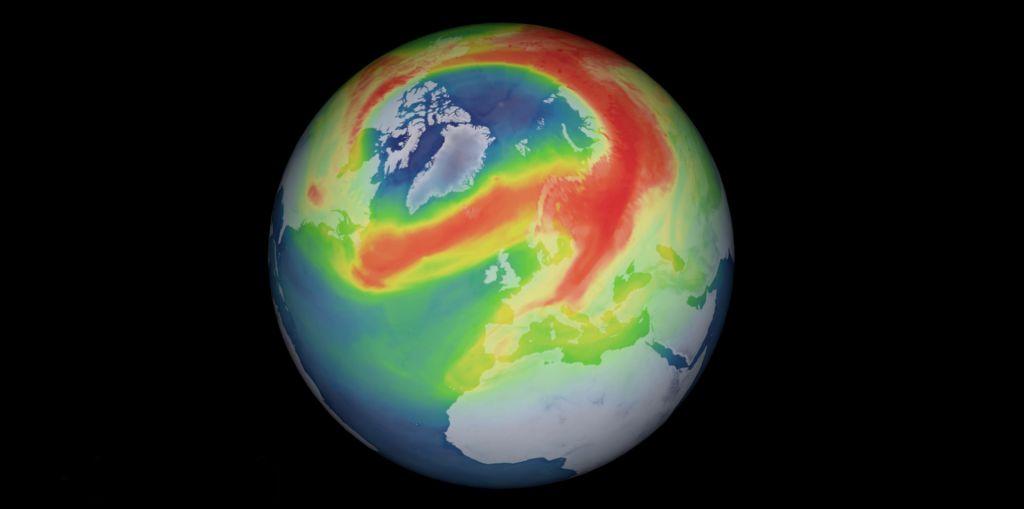 Un agujero en la capa de ozono que tiene tres veces el tamaño de Groenlandia se ha abierto sobre el Polo Norte
