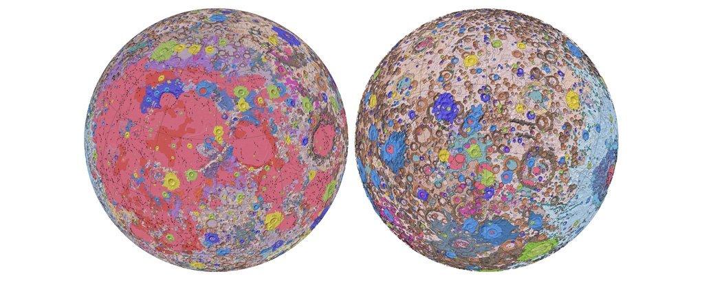 Científicos muestran el mapa geológico lunar más completo hasta la fecha