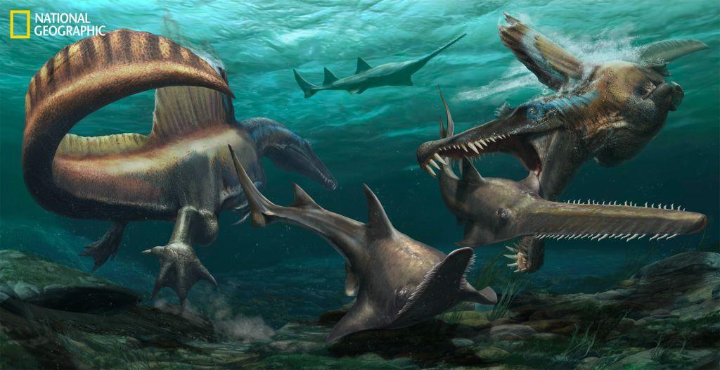 Un nuevo estudio coloca al espinosaurio como el primer dinosaurio acuático que se haya encontrado