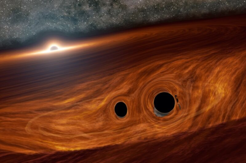 Astrónomos encuentran evidencia de que una colisión de agujeros negros pudo haber emitido luz