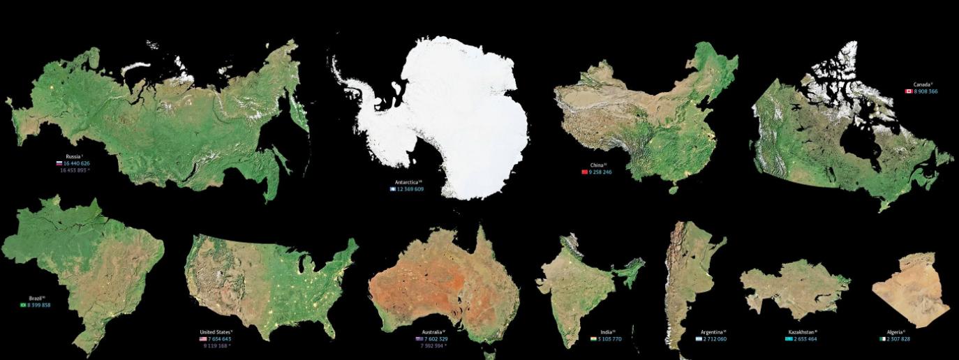 Las extensiones reales de los mapas muestran una realidad distinta