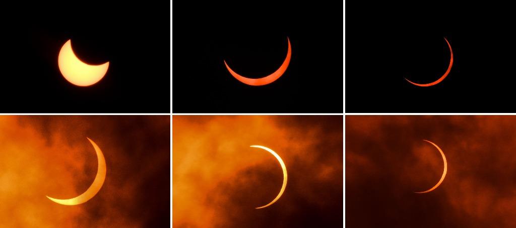 Las postales que dejó el eclipse «Anillo de Fuego»