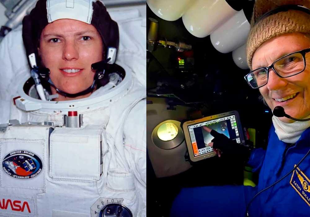 La primera mujer estadounidense en caminar en el espacio llega al punto más profundo del océano