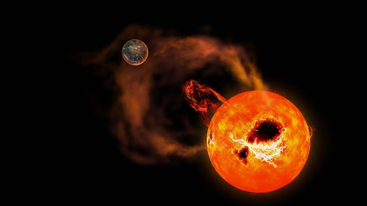 Detectan una estrella que expulsa llamaradas 20 veces más poderosas que las vistas en el Sol.