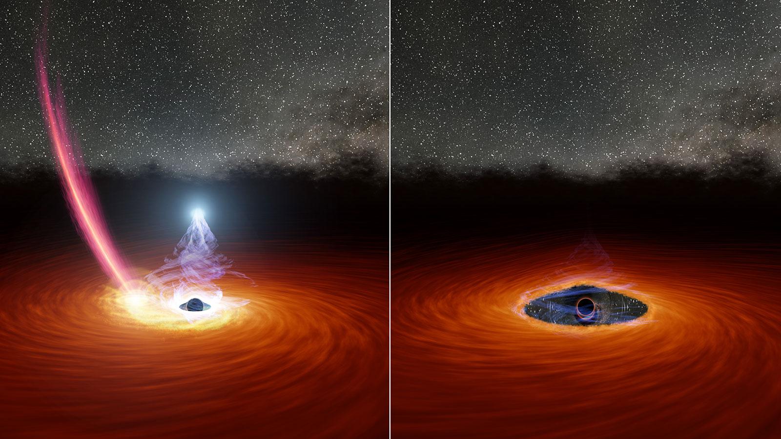 Por primera vez se observa la desaparición de la corona de un agujero negro