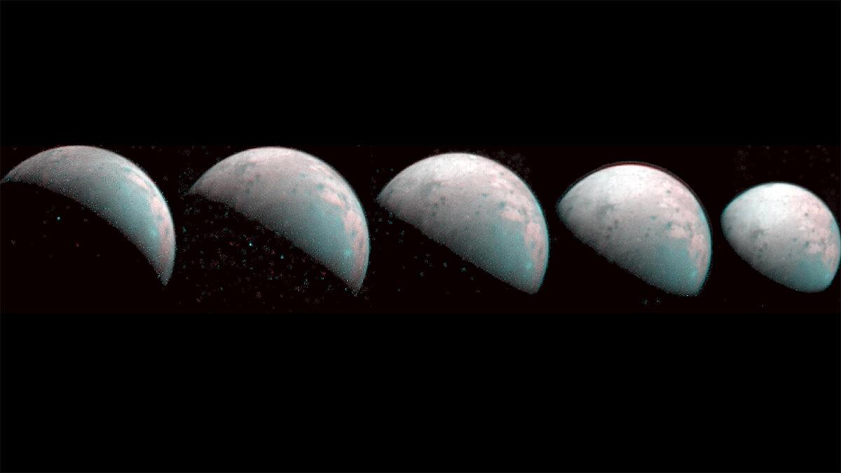 NASA: Juno captura imágenes del polo norte de Ganímedes, donde llueve plasma
