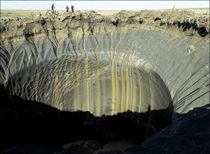 Otro misterioso agujero aparece repentinamente en las tundras de Siberia