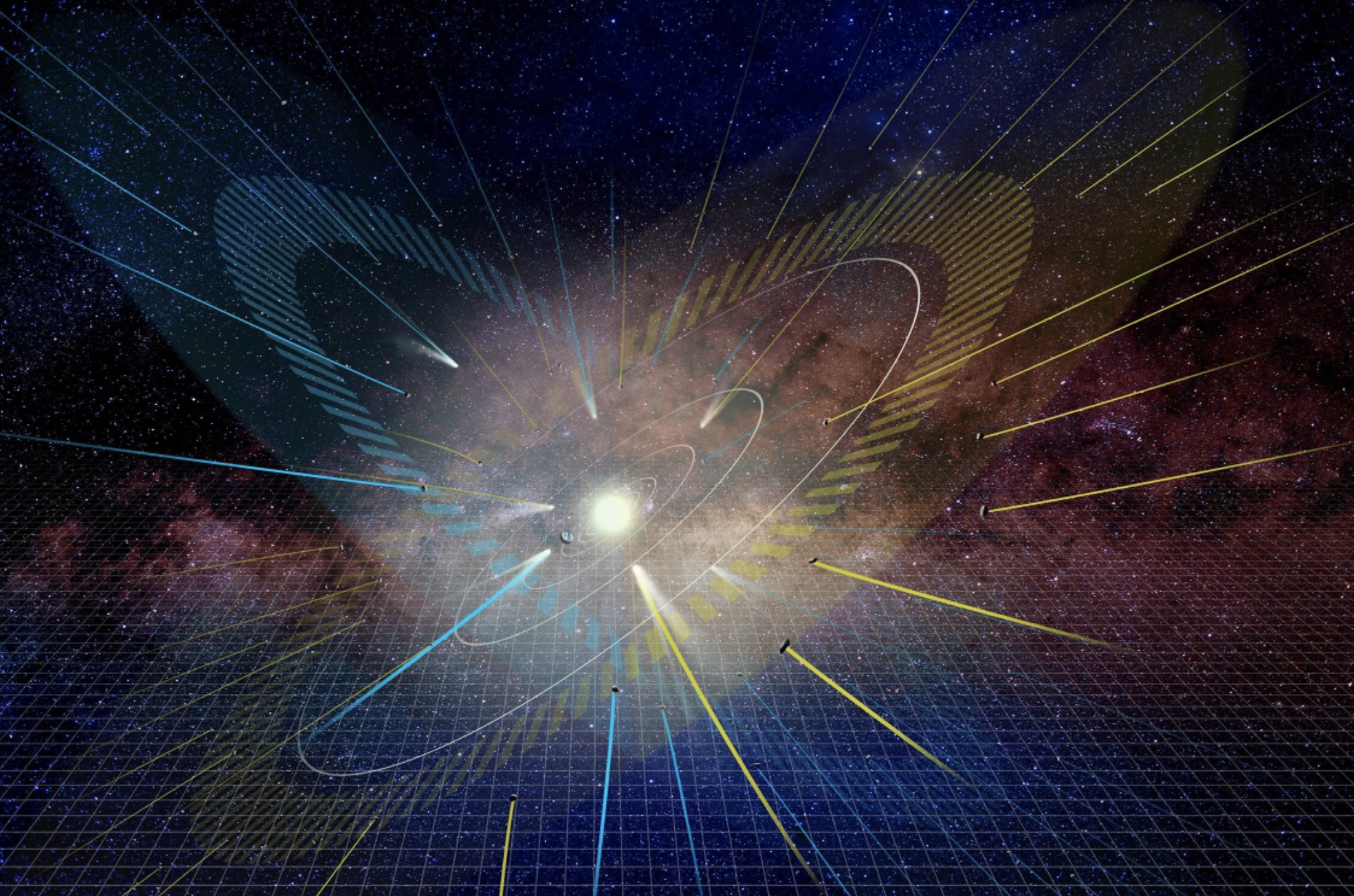 El Sistema Solar tendría dos planos de alineación orbital