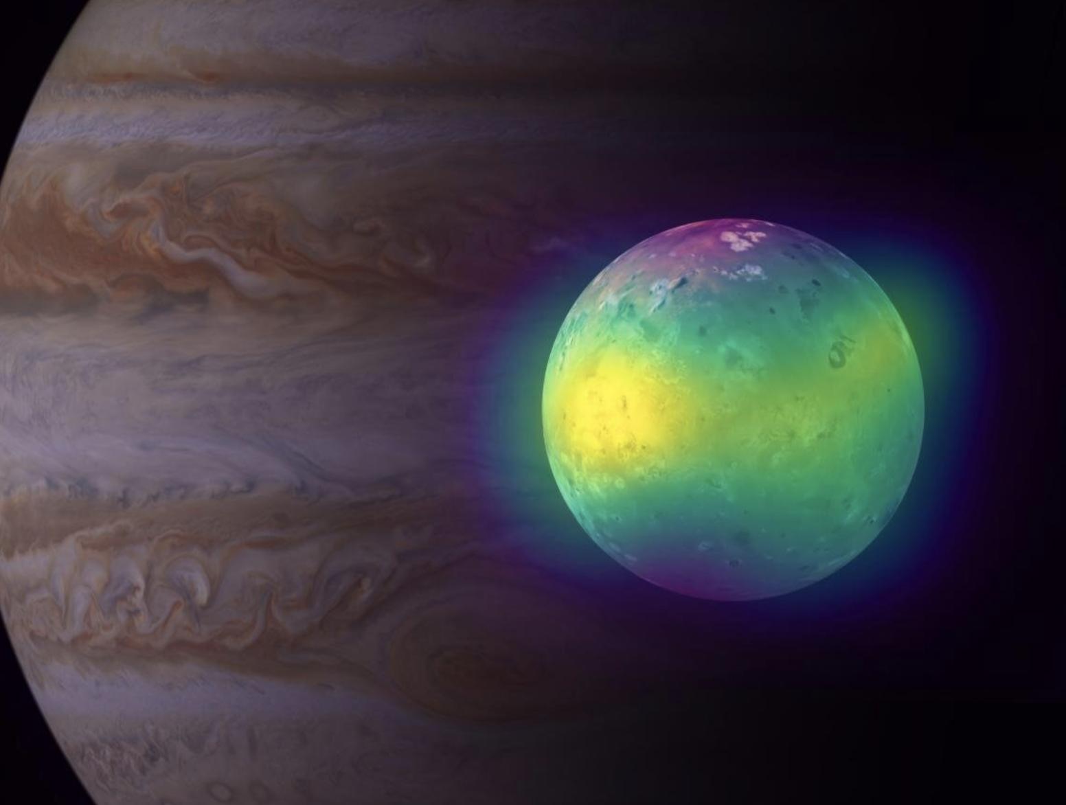 Por primera vez, astrónomos muestran el impacto volcánico en la atmósfera de Io