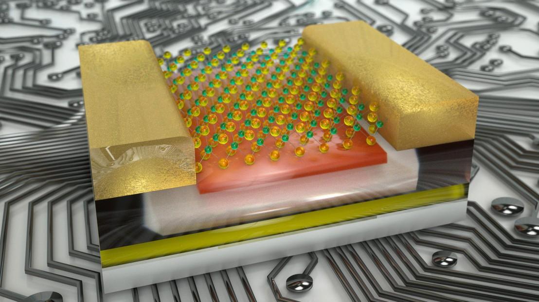 Este chip con capas atómicamente delgadas funciona como una neurona