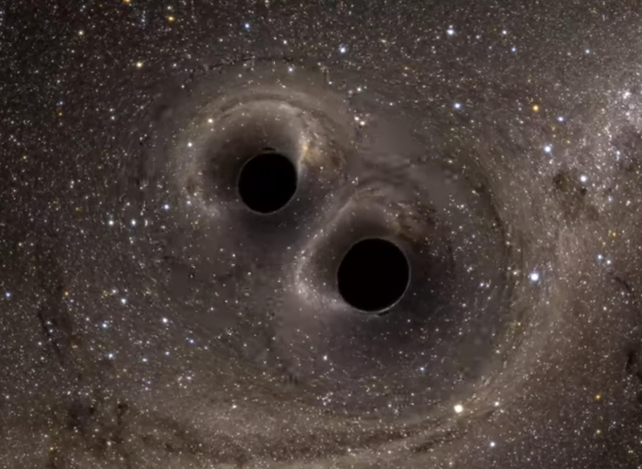 «Moléculas gravitacionales» podrían orbitar alrededor de agujeros negros binarios como electrones en una molécula