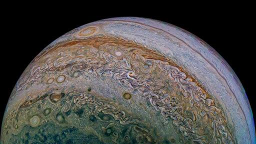 Juno encuentra «duendes» y «elfos» en la atmósfera de Júpiter
