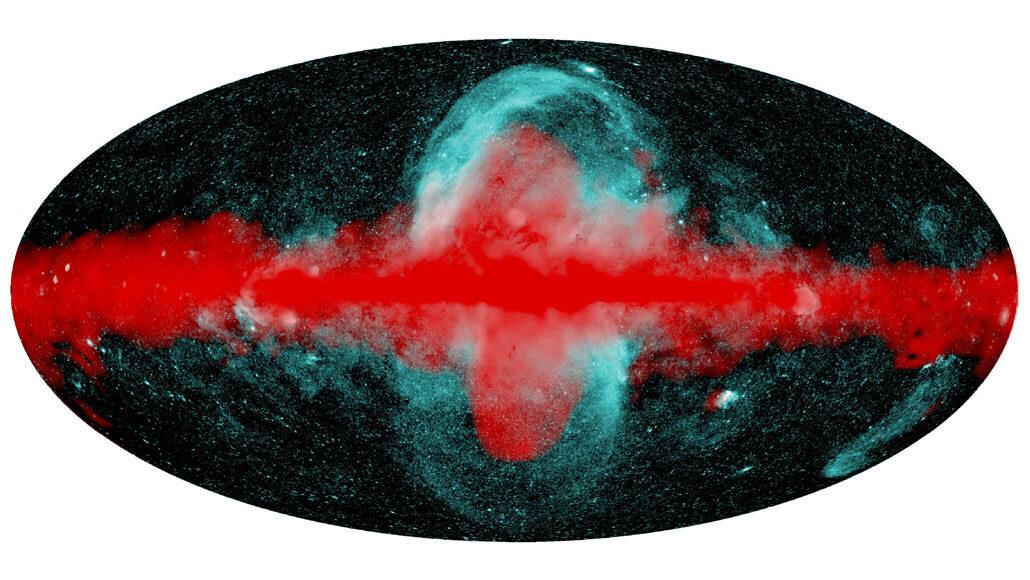 Astrónomos detectan dos gigantescas burbujas de rayos X saliendo del centro de la galaxia
