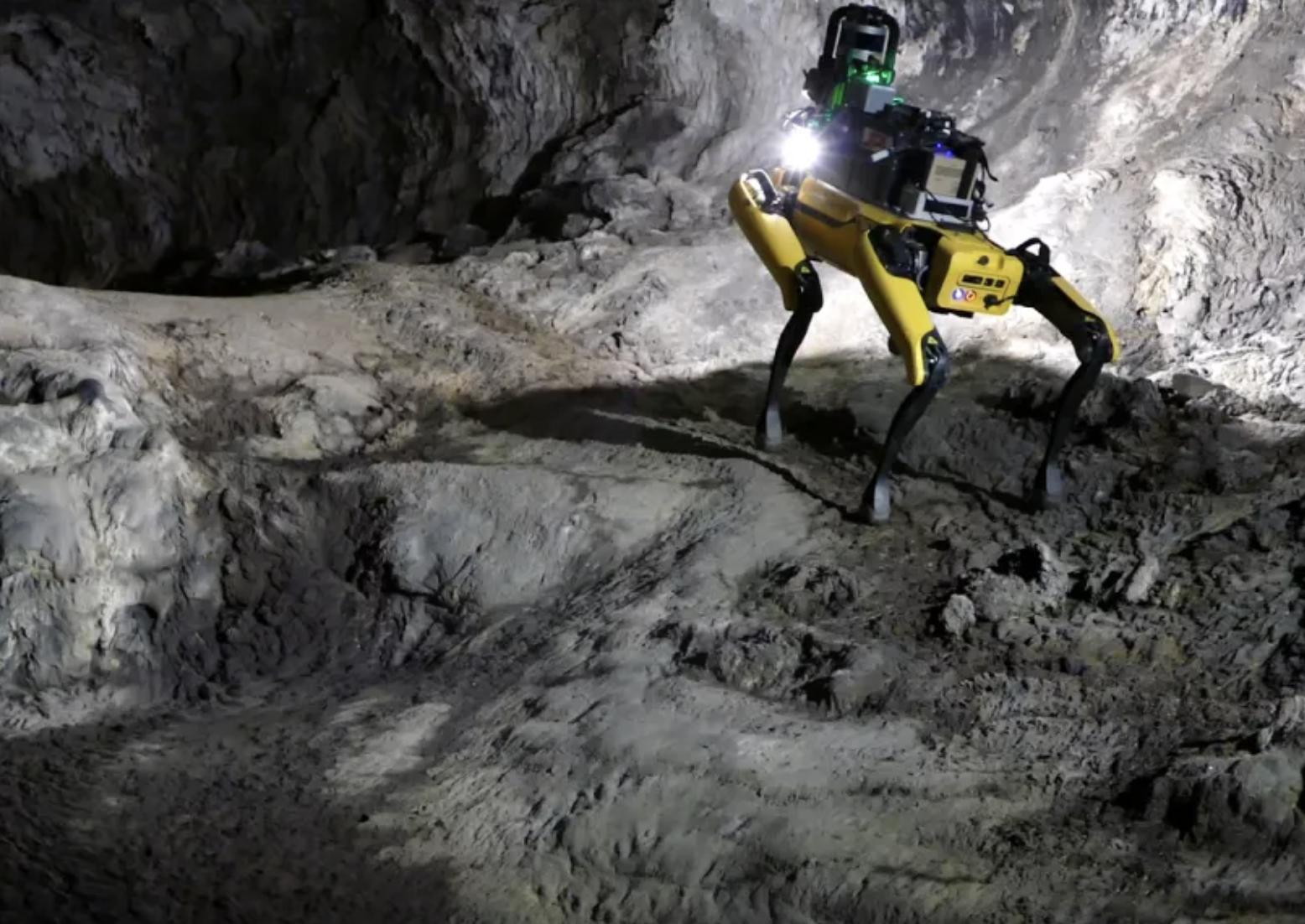 Au-Spot, el perro robot que la NASA planea enviar a Marte