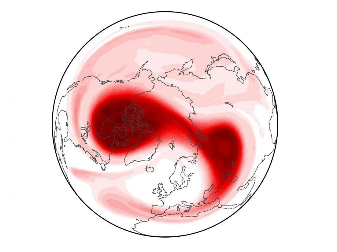 Científicos advierten de un inminente evento de calentamiento estratosférico sobre el Polo Norte