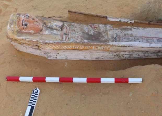 Arqueólogos encuentran 52 sarcófagos intactos del Nuevo Reino en la necrópolis de Saqqara