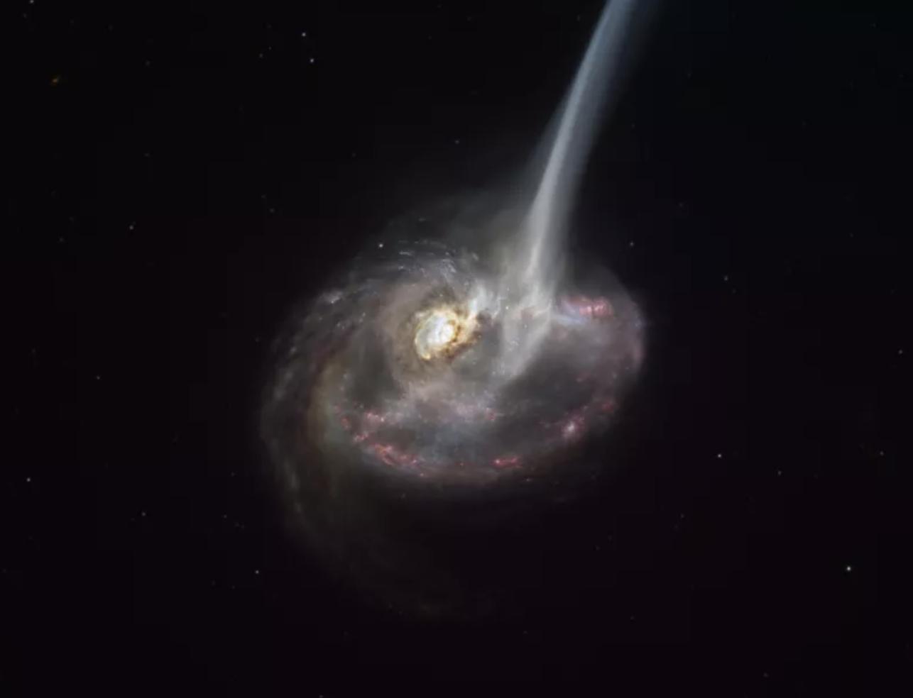 Por primera vez, astrónomos observan una galaxia a punto de morir