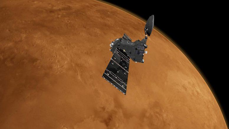 Científicos descubren un nuevo gas en la atmósfera marciana