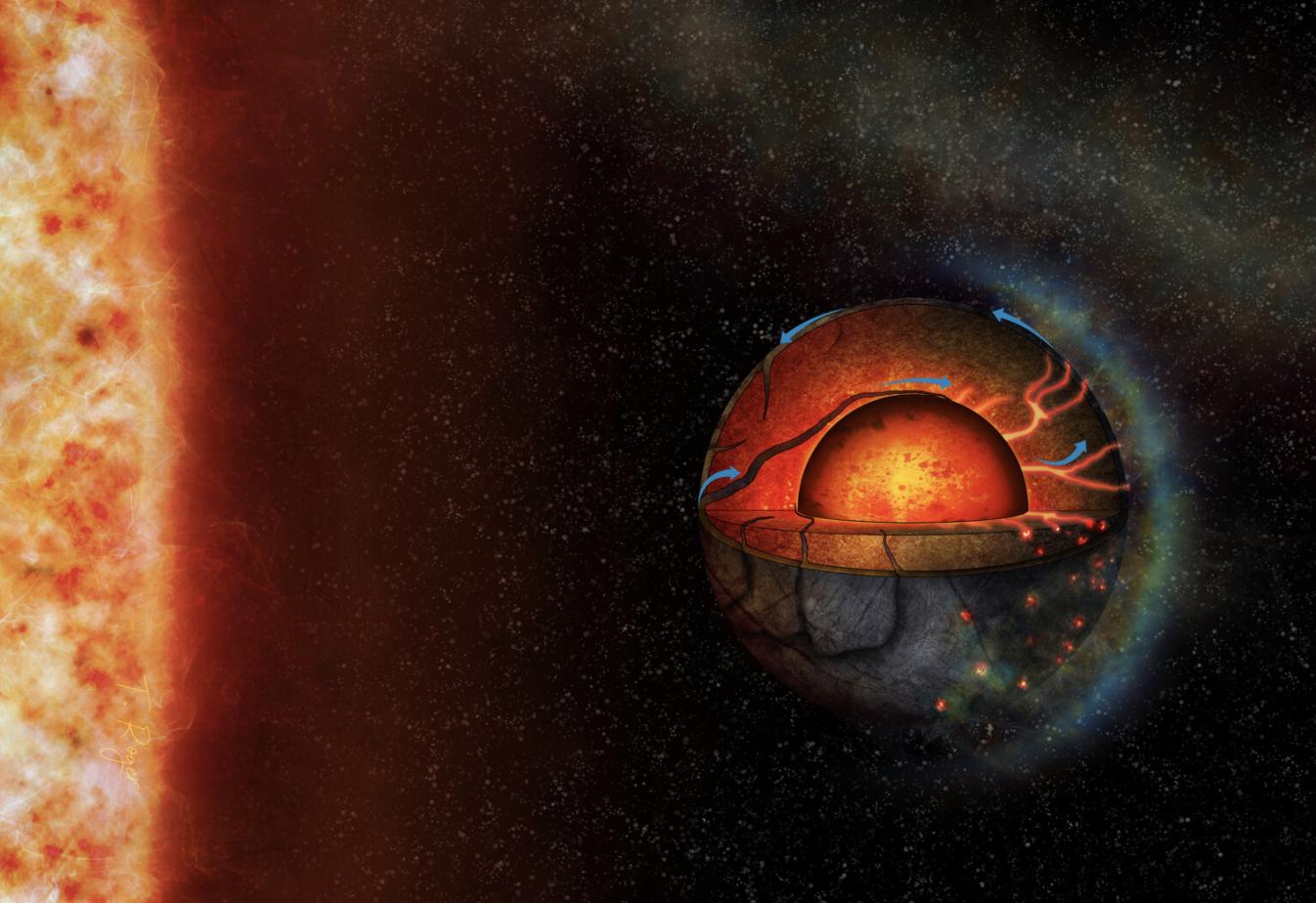 Astrónomos encuentran la primera evidencia de actividad volcánica en un exoplaneta