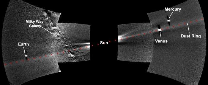 Sonda Parker de la NASA captó por primera vez el anillo de polvo orbital de Venus