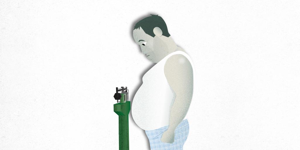 La obesidad podría reducir el flujo sanguíneo en el cerebro