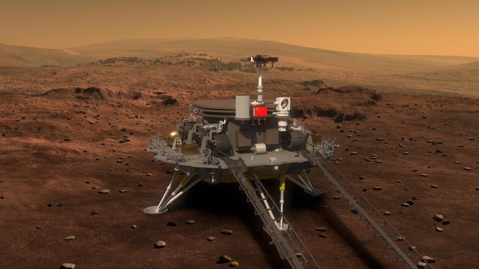 Así será el aterrizaje del rover chino Zhurong en el planeta rojo
