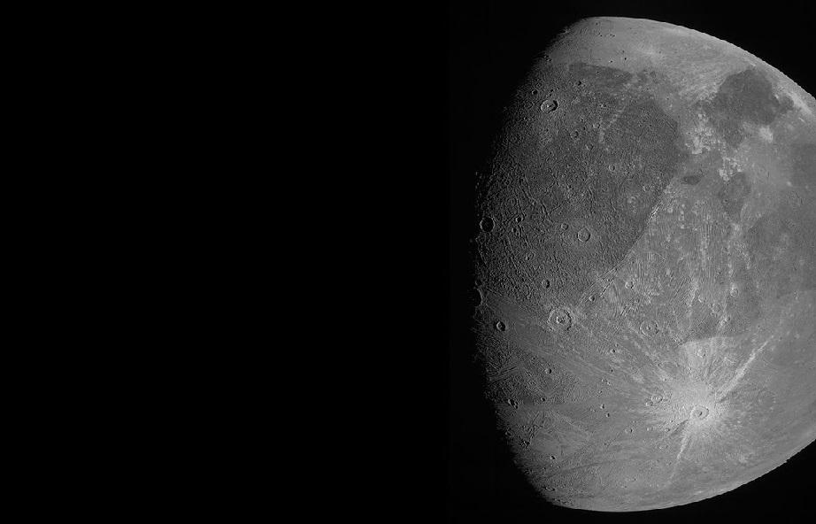 Juno envió las primeras fotos detalladas de Ganímedes, la luna de Júpiter
